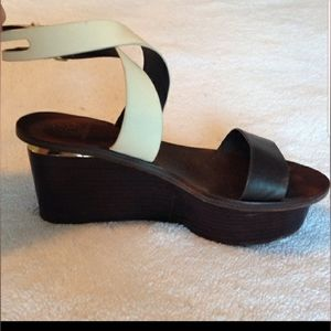 Tory Burch Miro Platform Wedge Size 8